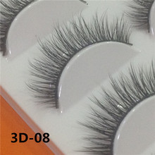 5 Pairs 3D Handmade Fake Eyelashes Natural Long Thick Daily Makeup Thick Cross Eyelashes Eye Lashes