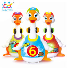 HUILE TOYS 828 Baby Toys Electric Hip Pop Dance Read & Tell Story & Interactive Swing Goose Kids Learning Educational Toys Gifts(China)