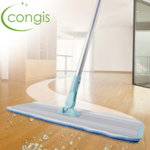 Congis 1PC New High-Quality Aluminum Rod Flat Mop Microfiber Mop Head Ultra-light Floor Kitchen Tile Clean Mop(China)
