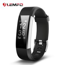 LEMFO ID115HR Plus Smart band Bracelet Heart Rate Monitor Pedometer Fitness tracker Smartband Wristband(China)