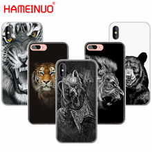 HAMEINUO russian bear tiger lion cell phone Cover case for iphone 6 4 4s 5 5s SE 5c 6 6s 7 8 plus case for iphone 7 X(China)