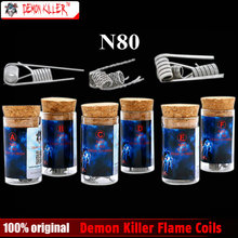 Original Demon killer Flame coils N80 6 kinds A B C D E F Style DIY Coil Wire Prebuilt Coil For RDA RTA Atomizer or Tank(China)