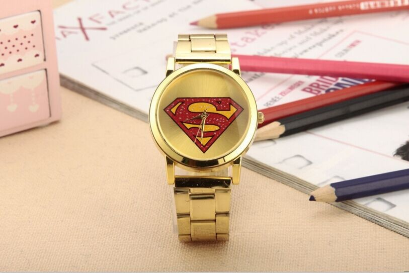 Free shipping 2016 new fashion European and American hip-hop superman watch unisex fashion lovers watch<br><br>Aliexpress
