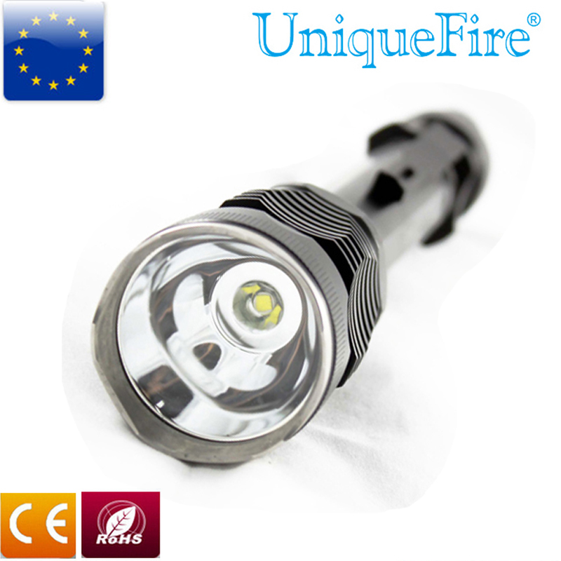 Uniquefire Flashlight UF-F9 Cree R5 Aluminum alloy Led Torch 3 Modes Black Lamp Lanterna for 2*18650 Rechargeable Battery<br><br>Aliexpress