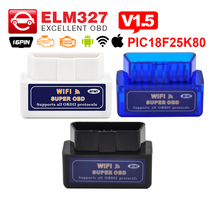 A+ quality ELM327 WIFI with PIC18F25K80 chip V1.5 mini ELM 327 Auto diagnostic-tool OBD 2 code reader for Android & IOS System
