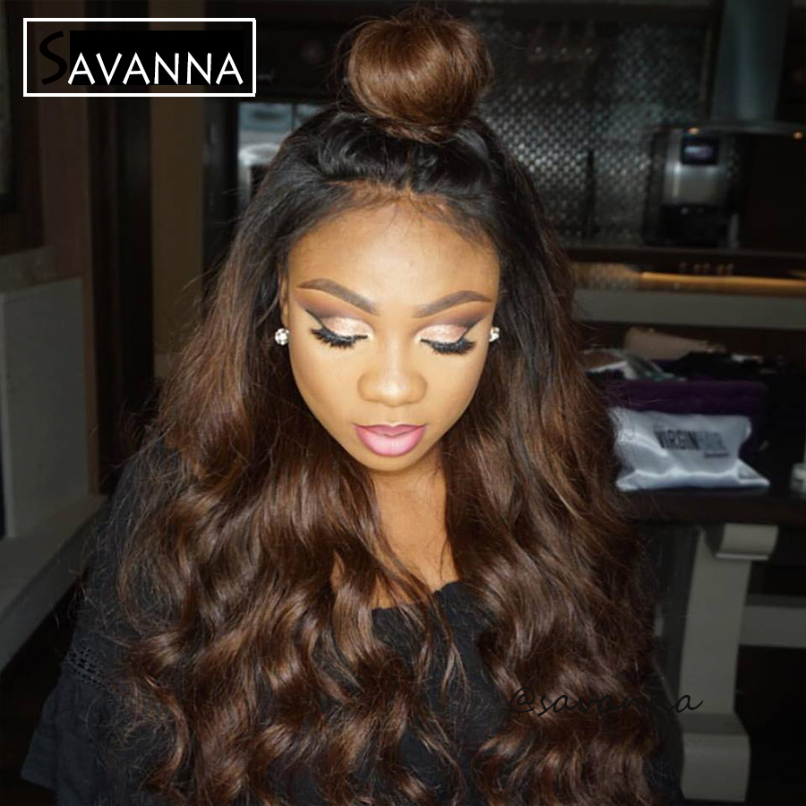 8A Human Hair Lace Front Wig 150% Density Peruvian Ombre Full Lace Wigs With Baby Hair #1b/#30 Ombre Water Wave Human Hair Wigs<br><br>Aliexpress