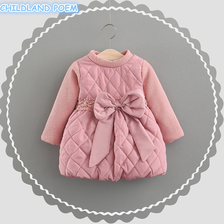 Spring Winter Baby Dress Thick Warm  Princess Newborn Baby Girls Dress 1st Birthday Party Infant Baby Clothes Vestido Infantil<br>