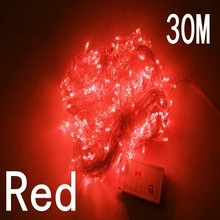 red colour 30m 240 led String Lights for Xmas Tree Holiday Wedding Party Decoration Halloween Restaurant or Bar and Home Garden