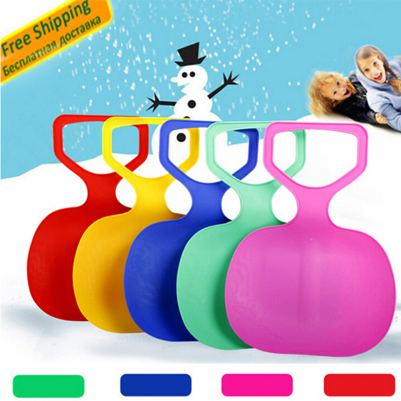 LumiParty Adult Kids Thicken Plastic Skiing adulte Ski Pad Children Snow grass sand Sledge Sled for Winter Sports SCI equiment(China (Mainland))