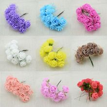 144pcs Cheap free shipping DIY mini roses artificial flowers lace wedding flower decoration flower foam hand ring material(China)