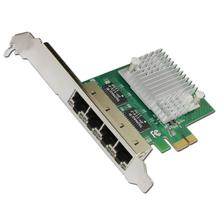 E350T4 PCI-E X1 Quad Port 10/100/1000Mbps Gigabit Ethernet Network Card Server Adapter LAN intel I350-T4 NIC(China)