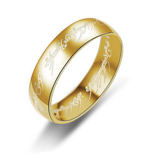 Stailess Steel Ring New Hot The Lord of the Rings Tungsten Ring Gold-Color Ring for Men and Women Gifts Wedding Jewelry