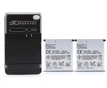 for Sony Ericsson W580 W580i W760 Xperia X10 mini Pro 2x 960mah BST-38 Battery with Wall Charger High Capacity Hot