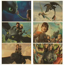 How To Train Your Dragon 2 poster Movie Art vintage Poster retro kraft wall paper Pictures For children Bedroom Room Decor