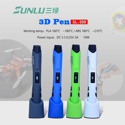 3D 3d-ручка Sunlu SL-300 с 20 шт. печатные нити пластик 100 м 1,75 мм ABS Защита температуры 3D ручки принтер