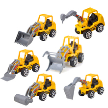 Excavator Friction Dumper Bulldozers Forklift Tank Excavator Cars 3 Construction Vehicles Truck Toy 1:72  Beach Toys For Kid Boy