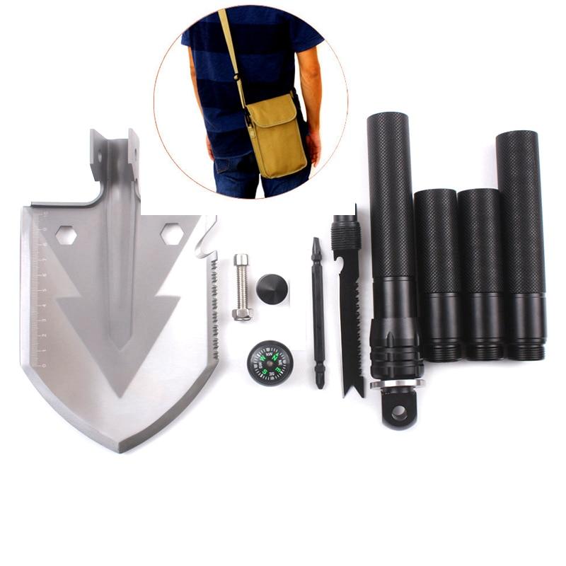 Multi-function Survival Shovel military Folding Spade Garden Camping Shovel Snow Hiking Outdoor Tool<br>
