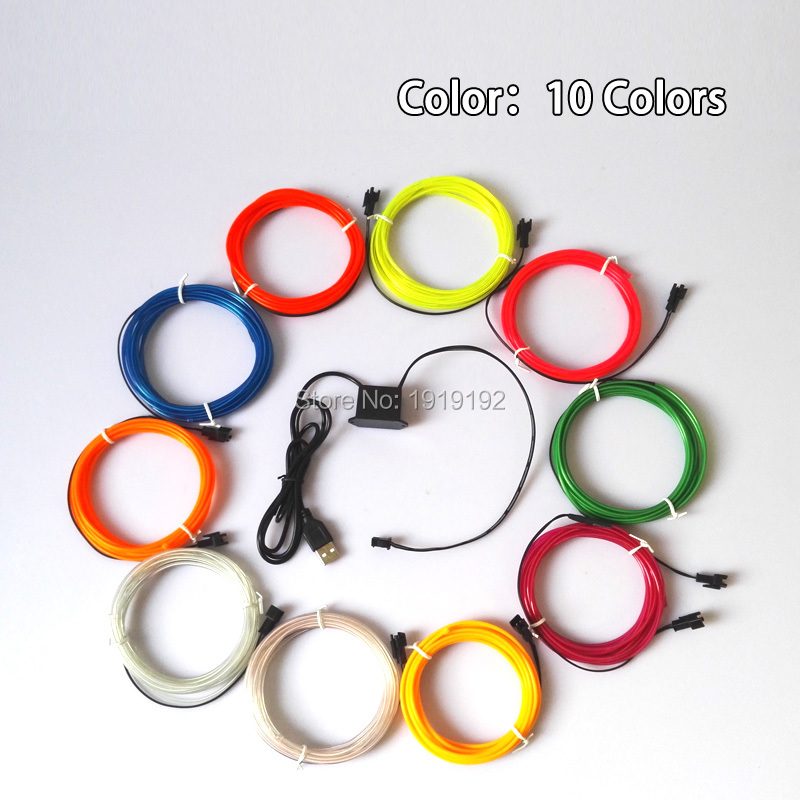 2 3mm 10 font b colors b font choice Waterproof Flexible EL font b Wire b online get cheap house wiring colors aliexpress com alibaba group house wiring colors at couponss.co