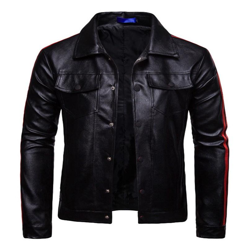 Men Leather Jacket High quality Slim Fit PU Leather Jackets Coats Spring Autumn Motorcycle Leather Jacket Male