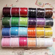 Wax Cord, Multicolor, Cheap Waxed Cotton Cord, 1.0mm Approx 70m/roll, DIY Bracelet,Necklace,Phone Accessories(China)