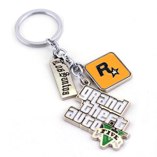Fashion Racing Game Rampant Overbearing GTA5 Key Ring Pendant Grand Theft Auto 5 Keychain For Gift Jewelry Accessories