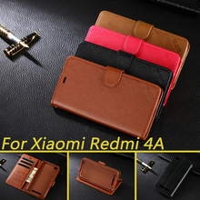For Xiaomi Redmi 4A Case Luxury Wallet PU Leather Case For Xiaomi Redmi 4A Book Flip Protective Cell Phone Shell Back Cover Bag(China)