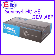 3pc/lot Satellite TV Receiver Sunray 800 SR4 SIM a8p card sunray4 SE Triple tuner 300Mbps WIFI A8P DHL free shipping