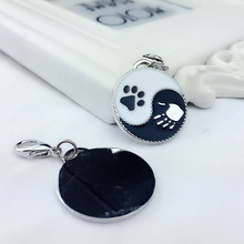 2PCS/lot DIY Pet pendant Animal footprints charm dog decoration Gossip pendants Keychain accessories for man gift Drop shipping