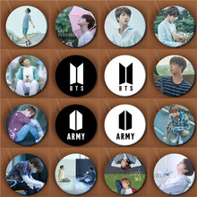 Youpop KPOP BTS Bangtan Boys New Logo Album Love Yourself Brooch Pin Badge Accessories For Clothes Hat Backpack Decoration(China)