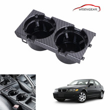 Carbon Grain Front Center Console Drink / Cup Holder For BMW 3 Series E46 320i 323i 325i 330i M3 CHASSIS 2000 318i C/5(China)