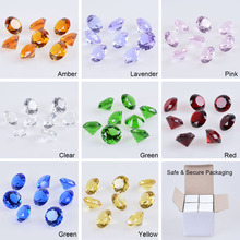 LS Set 8pcs 40mm Crystal Diamond Paperweight Decorative Ornaments Wedding Gifts Ship from USA(China)