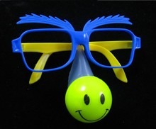 20pcs/lot LED clown party wear glasses, masquerade party mask,funny light up toy