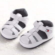 Summer 0-1 year old baby boy pure color sandals soft bottom baby breathable comfortable baby shoes Non-slip kids accesories