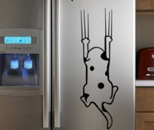 cartoon child real refrigerator kitchen cabinet Wall Stickers tile furniture glass stickers Save me Cat