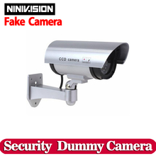 Dummy Outdoor Indoor Waterproof Fake Bullet Camera Led Light Fake Security camera Simulation CCTV Camera video Surveillance(China)