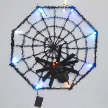 Top Grand Hot Sale LED Giant Spider Web Halloween Party Festival Indoor Outdoor Decoration Prop Home Bar Decoration