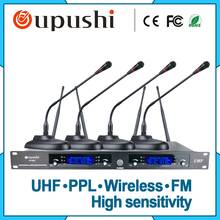 one host and four microphones Wireless multi channel gooseneck mic desktop microphone for skype conference