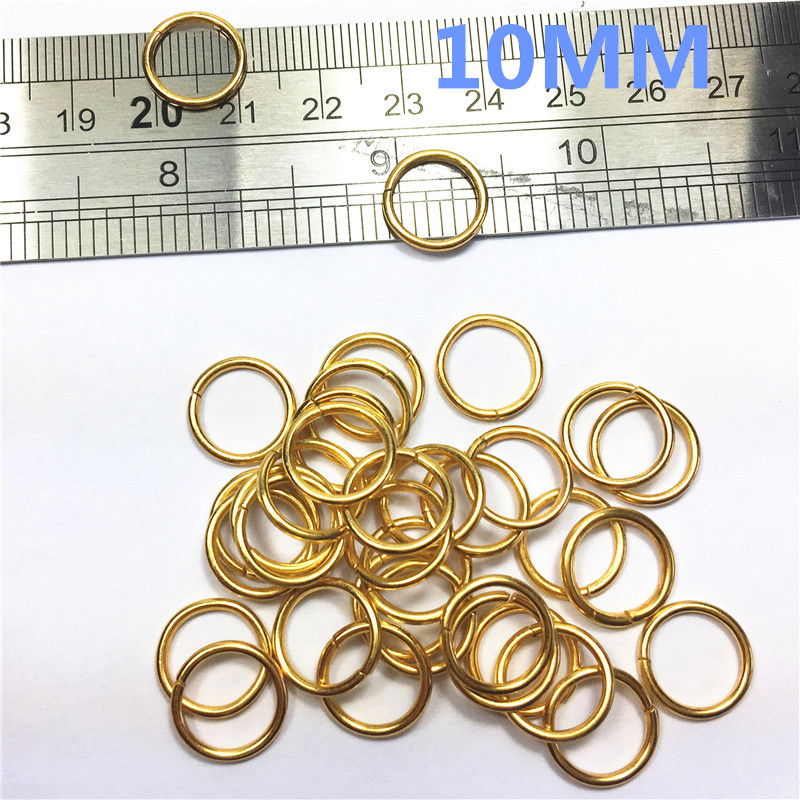 2-O Ring 10mm Metal for ribbon Dee Webbing Belt Buckles Bag Non Welded buckle