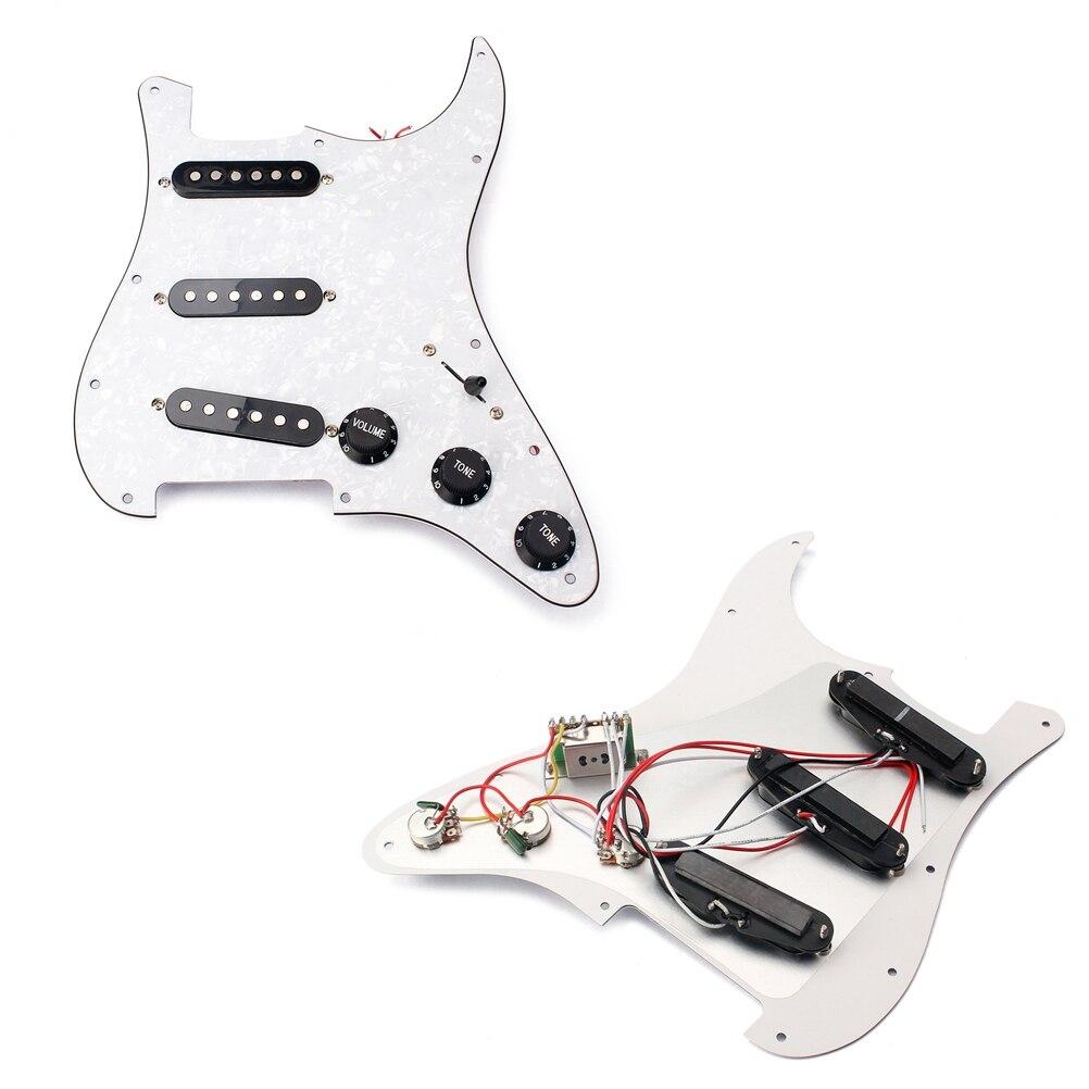 Prewired Loaded SSS Pickguard für Fender ST  ocaster E Gitarre