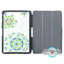Water Green Flower Drops Smart Cover Case For Apple iPad Mini 1 2 3 4 Air Pro 9.7 Wake UP Sleep