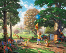 Thomas Kinkade Images prints Art Print On Canvas Home Decoration Wall Art Free Shipping Frameless Winnie the Pooh(China)