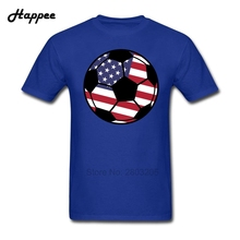 Teenage Tee XS-3XL Brand 100% Cotton Short Sleeve T Shirts Men Cheap Sale American Flag Football T-shirts Big Size Clothes Top