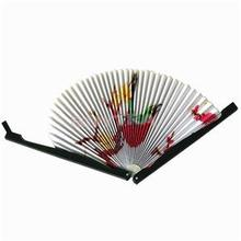 New Delicate Wedding Decoration Party Supplies Folding Paper Fan High Quality Paper Hand Fan