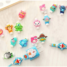 Cute Cartoon Cable Protector de cabo USB Cable Winder Cover Case accessories For Apple IPhone 5 5s 6 6s 7 plus cable Protect