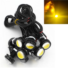CYAN SOIL BAY 10x 9W 12V 24V 18MM LED Eagle Eye Light Car Fog DRL Daytime Reverse Parking Signal Yellow Amber(China)