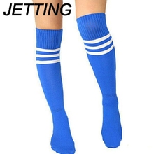 JETTING 2Pcs Thicken Over Knee Ankle Sports Long Socks 51cm Men Women Unisex Adult Striped Soccer Baseball Football Socks
