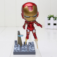 "Cute Nendoroid 4"" Iron Man 284# Set PVC Action Figure Collection Model Toy In Colorful Box"