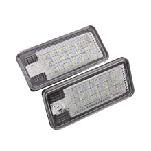 2016 Newest Pair 12V Auto Car 18LED Plate Lights For Audi A3 S3 S4 A6 Q7 Bright Lighting
