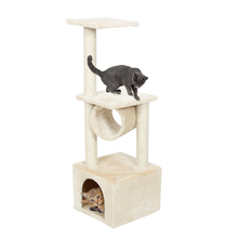 Domestic Delivery Cat Scratchers Toy Wood Climbing Tree Cat Jumping Toy with Ladder Climbing Frame Cat Furniture Scratching Post(China)