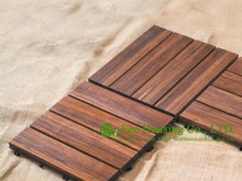Outdoor Bamboo Floor Tiles, 300x300x25mm Bathroom Floor Tile For Sale, Garden Decking Tile Bamboo Tile Flooring Design Ideas(China)
